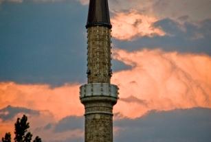 Minaret. Sarajevo, Bosnia