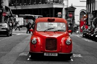 Red cab, London
