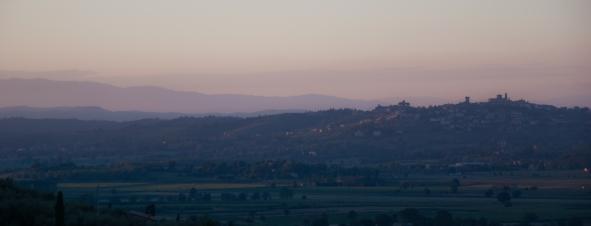 Sunset over Tuscany