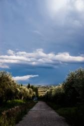 Receding thunderstorm