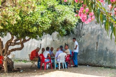 Playing games in the shadow - Palermo, Sicily