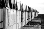 Cayeux-sur-Mer in black and white