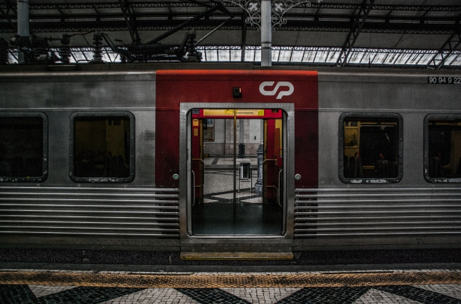 See through train - Lisbon