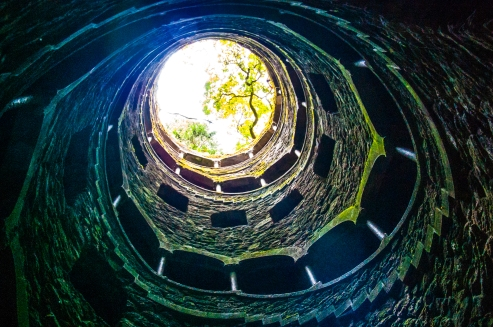 Inverted well - Quinta da Regaleira - Sintra