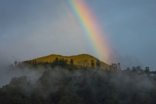 Rainbow on Mount Batur